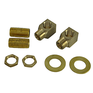 T&S Brass - B-0230-K Installation Kit, 1/2-inch NPT Nipple with Lock Nut and Washer.